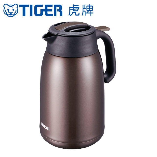 【TIGER虎牌】1.6L提倒式不鏽鋼保冷保溫熱水瓶(PWM-B160-TV)深咖啡