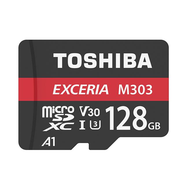 TOSHIBA M303 Micro SDXC UHS-I (U3/V30/A1) 128GB 記憶卡 (台灣製造 / 附轉卡)