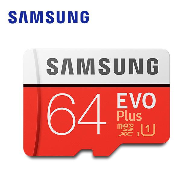 SAMSUNG 三星 EVO Plus microSDXC UHS-I(U1) Class10 64GB記憶卡 (公司貨) (MB-MC64HA)