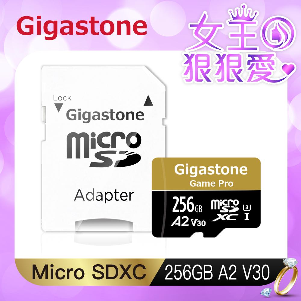 Gigastone microSDXC UHS-I U3 A2(V30) 256G記憶卡(附轉卡)