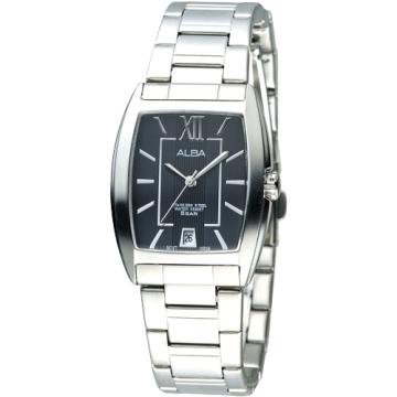 ALBA 唯美國度時尚腕錶-黑 (AG8467X1)