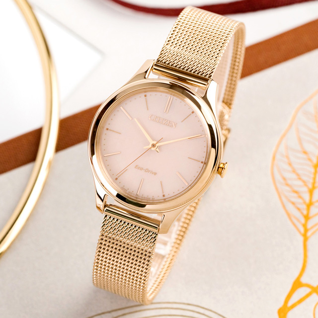 CITIZEN 優雅時尚米蘭風光動能時尚腕錶(EM0503-83X)