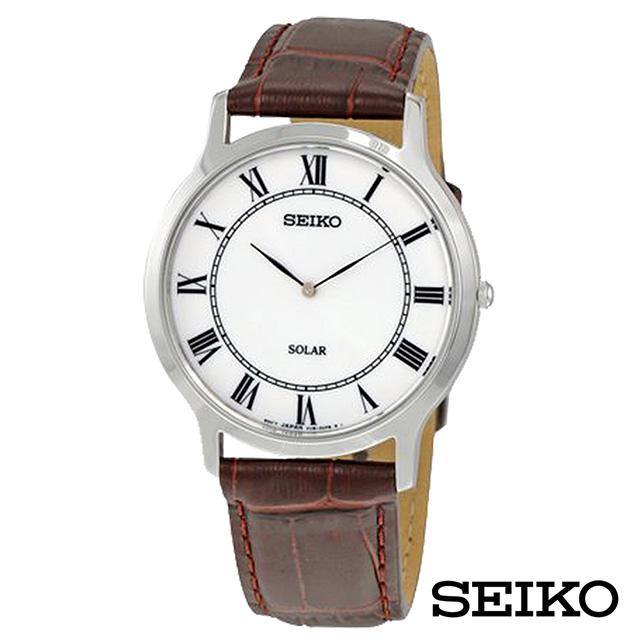 SEIKO精工 大收藏家羅馬時標太陽能男士手錶 SUP869P1