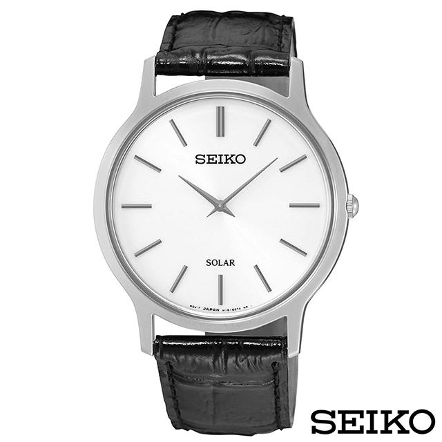 SEIKO精工 時尚爾雅超薄太陽能石英腕錶 SUP873P1