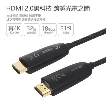 菲伯爾FIBBR Ultra Pro 光纖HDMI連接線 1M