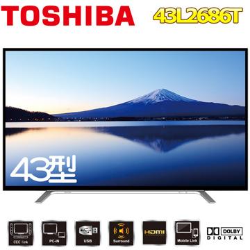 TOSHIBA東芝 43吋液晶顯示器 43L2686T