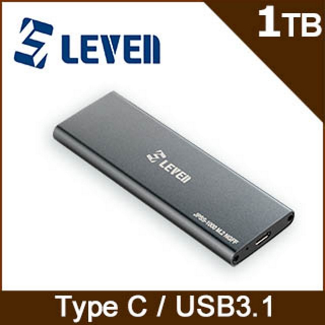 LEVEN 獵穩 JPSS-1000系列 1TB USB31外接隨身固態硬碟