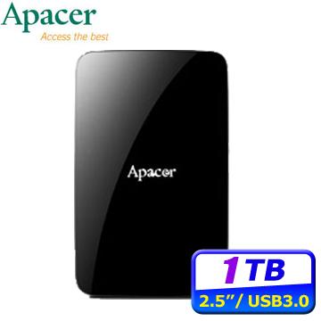 Apacer宇瞻 AC233 1TB USB3.1 2.5吋行動硬碟