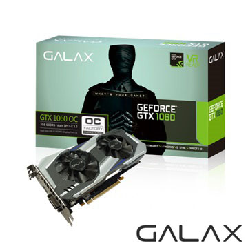 GALAX GTX 1060 OC 3GB顯示卡