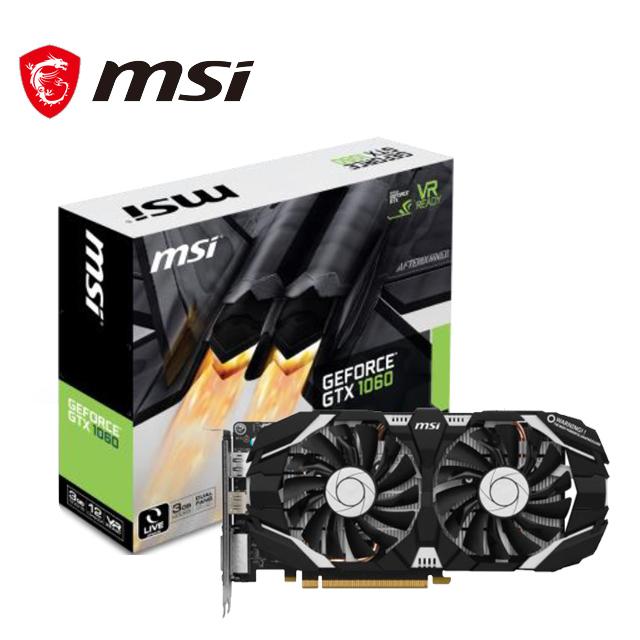 微星 GeForce GTX 1060 3GT 顯示卡