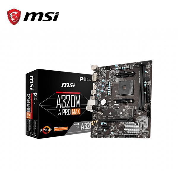 微星MSI A320M-A PRO MAX AMD主機板