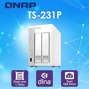 [Seagate IronWolf 2TB*2]QNAP TS-231P 2Bay NAS