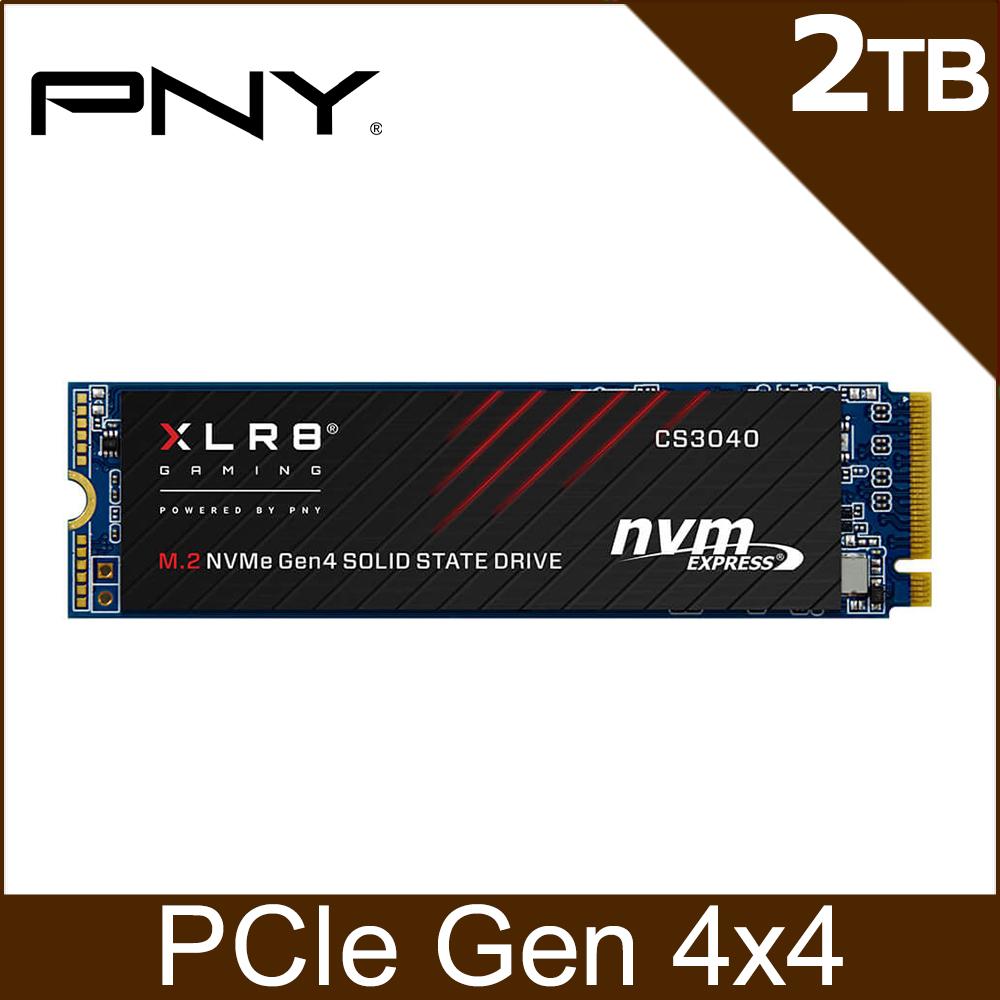 PNY XLR8 CS3040 2TB M.2 2280 PCIe Gen4x4 SSD固態硬碟