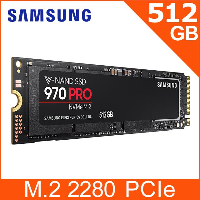 SAMSUNG 三星 970 PRO 512GB NVMe M.2 2280 PCIe 固態硬碟