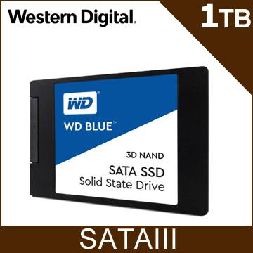 WD SSD 1TB 25吋 3D NAND固態硬碟(藍標)