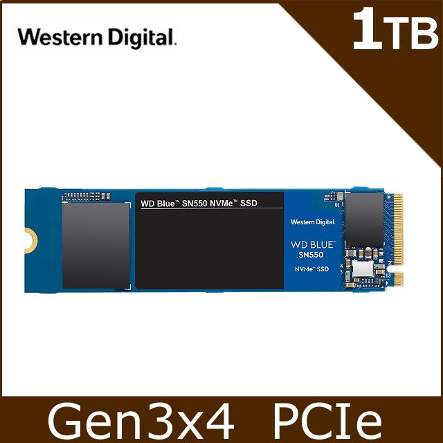 WD 藍標SN550 1TB SSD PCIe NVMe固態硬碟