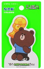 [N次貼] LINE FRIENDS世界盃-熊大冠軍盃-可站立便條紙 - 62010
