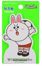 [N次貼] LINE FRIENDS世界盃-兔兔PLAY-可站立便條紙 - 62012