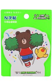 [N次貼] LINE FRIENDS世界盃-熊大啦啦隊-可站立便條紙 - 62011
