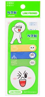 [N次貼] 指示標籤紙LINE饅頭人-45mm X 12mm - 62063
