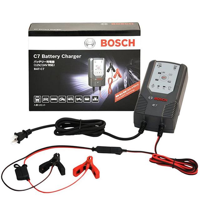 BOSCH 智慧型脈衝式電池充電器 C7 12V 24V 適用機車 汽車 電瓶充電器