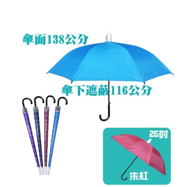 【台灣嚴選】RA56012RD 大傘面不滴水外銷日本晴雨傘紅色 (傘面外徑138CM)