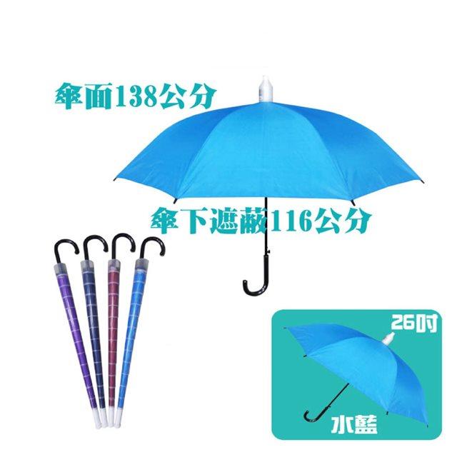 【台灣嚴選】RA56012IB 大傘面不滴水外銷日本晴雨傘水藍色 (傘面外徑138CM)