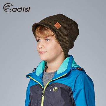 ADISI 短眉針織保暖帽AS16111 橄綠