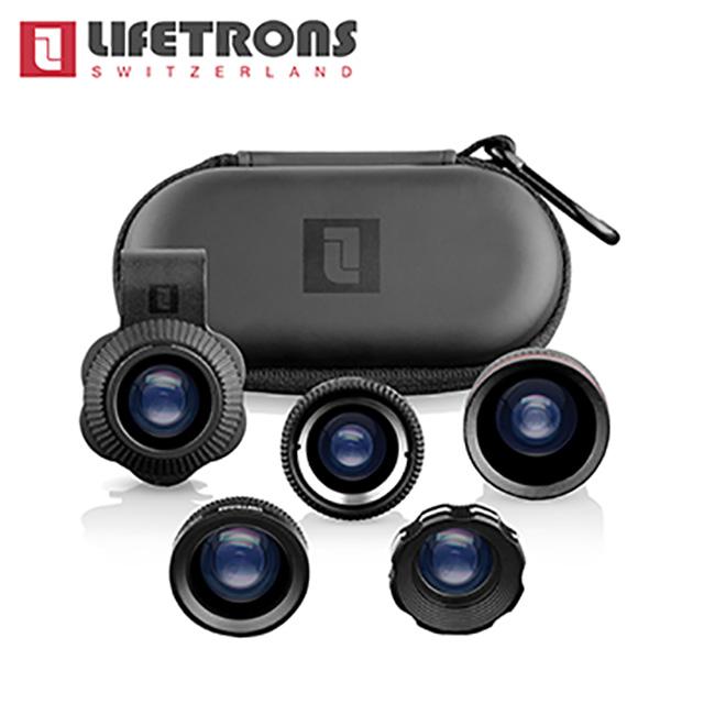 Lifetrons 5 IN 1 多功能手機鏡頭組 ( 微鏡+廣角+魚眼+偏光+兩倍)