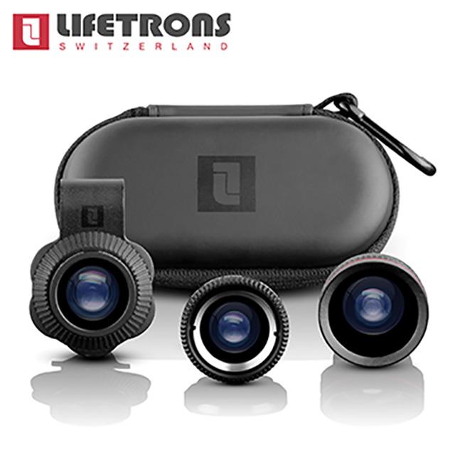 Lifetrons 3IN1 多功能手機鏡頭組 ( 微鏡+廣角+魚眼 )