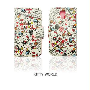 Hello Kitty 凱蒂貓 翻頁皮套手機殼(凱蒂世界款)│Galaxy S4