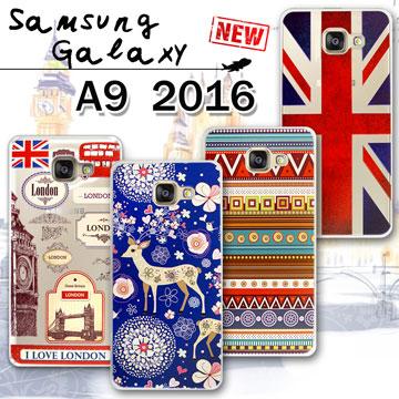 VXTRA Samsung Galaxy A9 (2016) 率性風格 彩繪軟式保護殼 手機殼