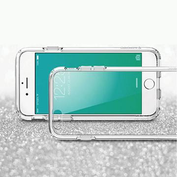 Apple iPhone 6/6s 高質感雙料材質 透明TPU+PC手機殼/保護套