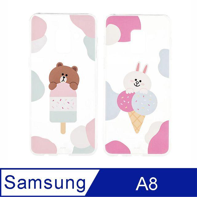 SAMSUNG Galaxy A8 LINE FRIENDS 背蓋