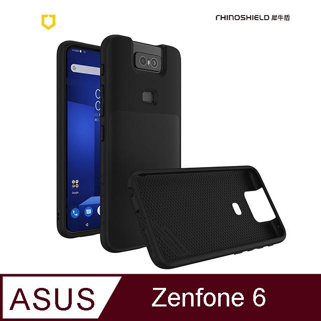 犀牛盾 SolidSuit 經典防摔背蓋手機殼ASUS Zenfone 6 黑色