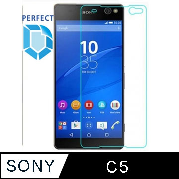 [Perfect]全面保護 鋼化玻璃保護貼 9H SONY C5
