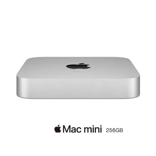 Mac mini: Apple M1 chip with 8‐core CPU and 8‐core GPU, 256GB SSD