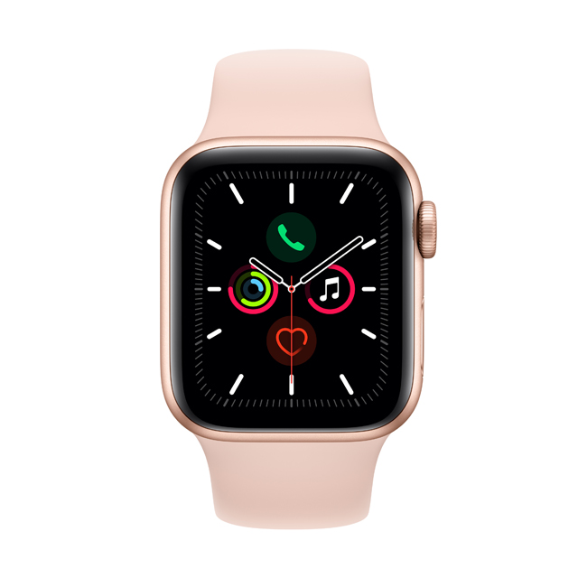 Apple Watch S5 GPS, 40mm Gold - Pink Sand Sport Band (MWV72TA/A)