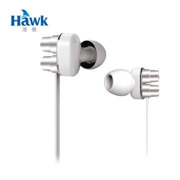 Hawk X570 低音砲 雙單體耳機麥克風-時尚白