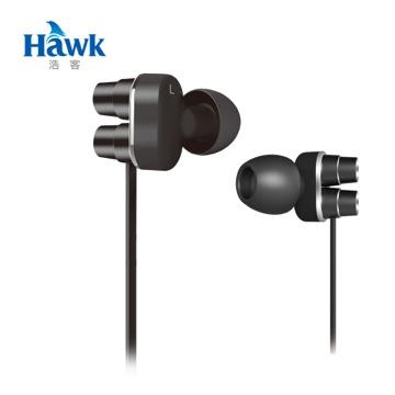 Hawk X570 低音砲 雙單體耳機麥克風-酷炫黑