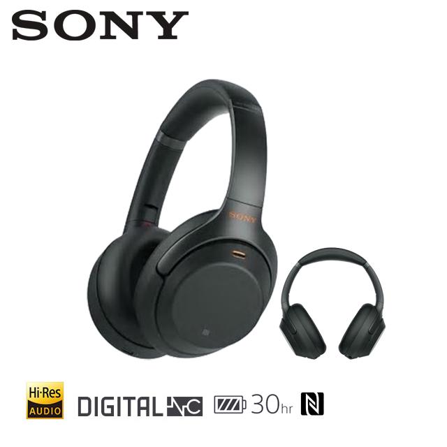 [福利品]SONY 無線藍牙降噪Hi-Res耳罩式耳機 WH-1000XM3 黑
