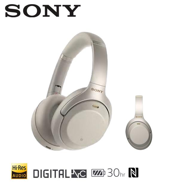 [福利品]SONY 無線藍牙降噪Hi-Res耳罩式耳機 WH-1000XM3 銀