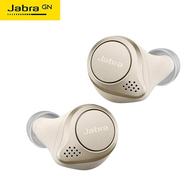 【Jabra】Elite 75t 真無線藍牙耳機(鉑金/米)