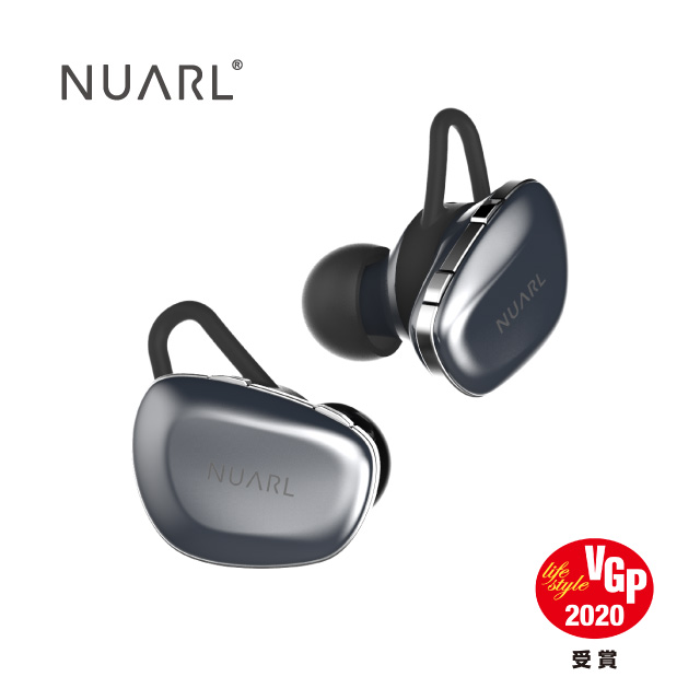 Nuarl N6 原創單體、廣闊音場 aptX 真‧無線藍牙耳機 (薄青)