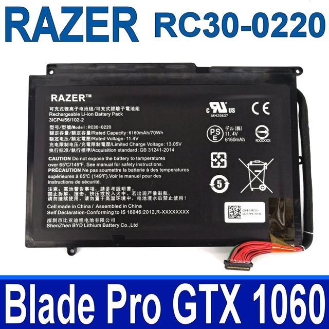RAZER RC30-0220 3芯 雷蛇 電池 Blade Pro GTX 1060 11.4V 6160mAh