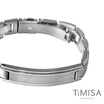 TiMISA《純粹品味-寬版》純鈦鍺手鍊