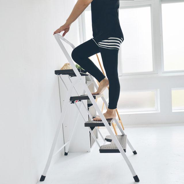 《舒適屋》簡約可折疊四層家用梯/A字椅/樓梯椅