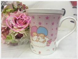 小花花日本精品♥ Hello Kitty 雙子星 附蓋 馬克杯 大容量 56800708