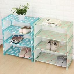【四層鞋架】DIY組裝簡易4層拖鞋架 鞋子4格收納架 置物架 鞋櫃☆160小舖☆