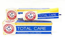 英國進口 ARM & HAMMER 牙膏 ( 多重款: Total care ) 125g